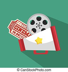 ticket cinema movie icon