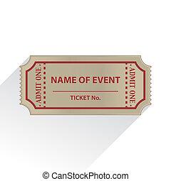 Ticket - Empty ticket in flat design