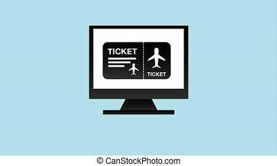 Ticket concept design, Video Animation HD1080