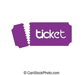Ticket Design Concept - Ticket Design with Logo Concept. EPS...