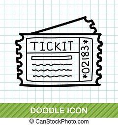 ticket doodle