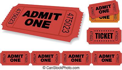 Ticket - Admit One Vector Ticket Set
