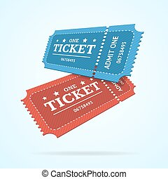 Ticket Fly Blank Admit Set Retro Old Style. Vector