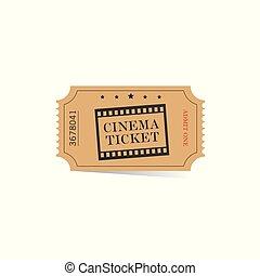 ticket for cinema illustration