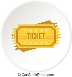 Ticket icon circle