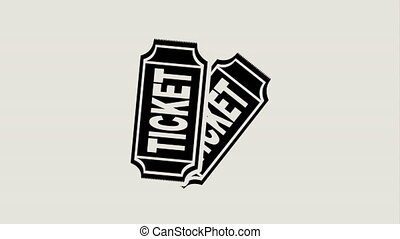 Ticket icon design, Video Animation HD1080