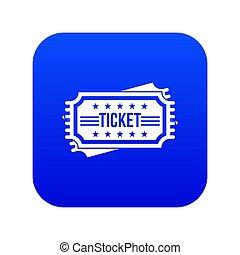Ticket icon digital blue