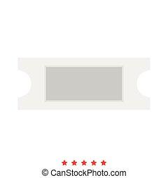 Ticket icon . Flat style