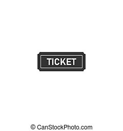 Ticket icon flat