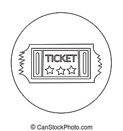 ticket icon illustration design