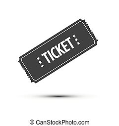Ticket Icon Isolated on White Background