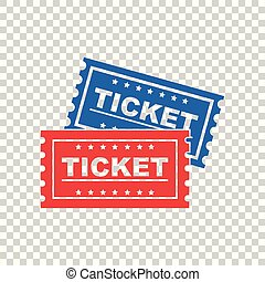Ticket icon on isolated background. Vector illustration
