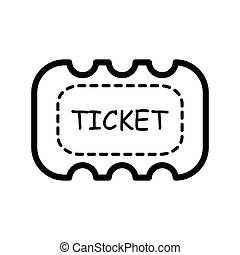 Ticket icon on white background line style