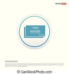 ticket icon - white circle button