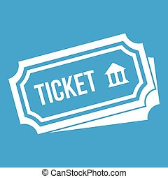 Ticket icon white