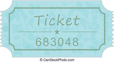 ticket isolated on a white background