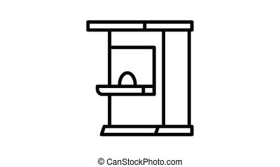 Ticket kiosk icon animation best on white background for any design