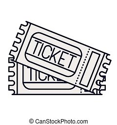 ticket of access isolated icon