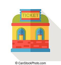 ticket office flat icon