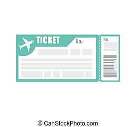 ticket pass boarding flight