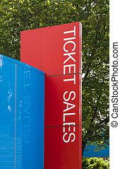 Ticket sales sign