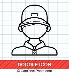 Ticket seller doodle