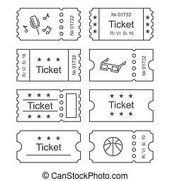 the blank cinema ticket icon cinema ticket symbol flat vector