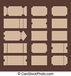 Ticket shape, flat design