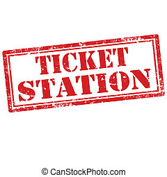 Ticket Station-stamp