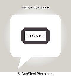 ticket vector icon