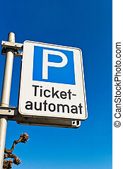 ticket vending machine for parking - an automaton to pay for...