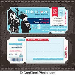 Ticket Wedding Invitation Design Template
