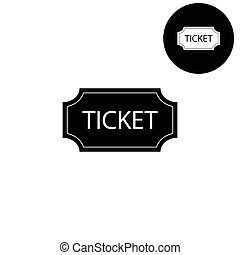 ticket  - white vector icon