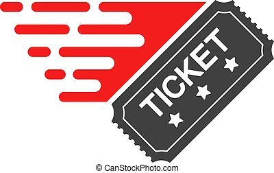 Ticket with Fast Speed Effect