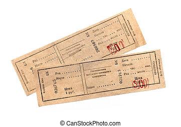 tickets, белый, два, задний план