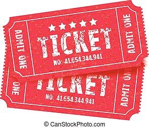 tickets, задавать, два, красный