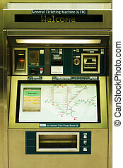 Tickets automat in Singapore subway