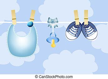 Tickets birth - Baby shower blue boy