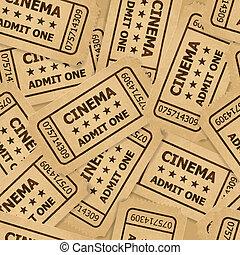 tickets., cinéma