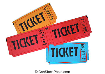 Tickets - Close-up of general admission tickets isolated in ...