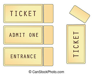 Tickets - tickets in old format for entrance to cinema