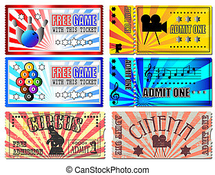 Tickets  - Sport, Cinema, Concert and Circus tickets