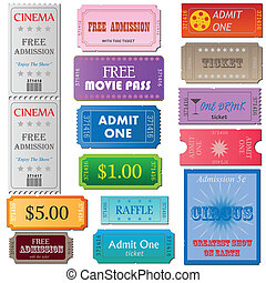 Tickets - Image of tickets isolated on a white background.