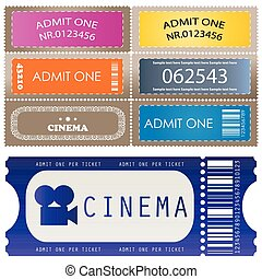 Tickets in different styles - vector