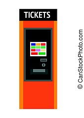 Tickets machine with sensor screen and convenient interface