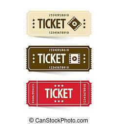 Tickets Set. Vector Cinema Ticket.