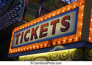 """Tickets - """"Tickets"""" sign"""