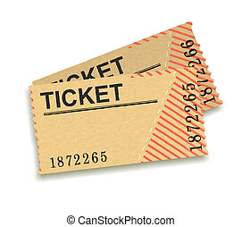 tickets - illustration of two historic or old tickets
