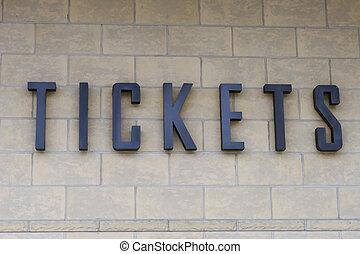 Tickets - Ticket Sign