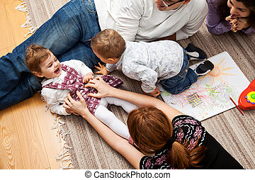 tickling a babe girl family